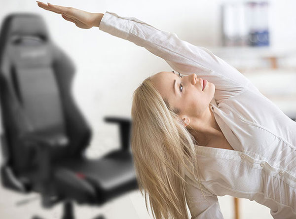 Woman with healthy spine enjoying wellness