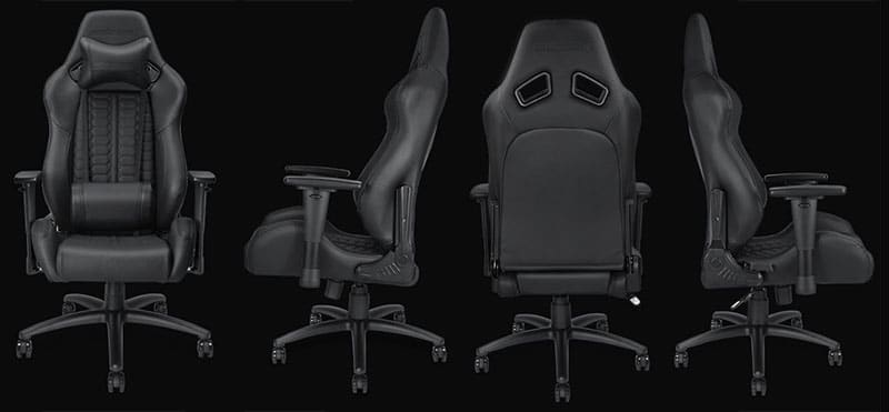 Dark Demon gaming chair view from 4 sides