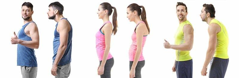 Examples of correct versus poor posture
