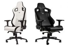 Noblechairs Epic black and white office chairs