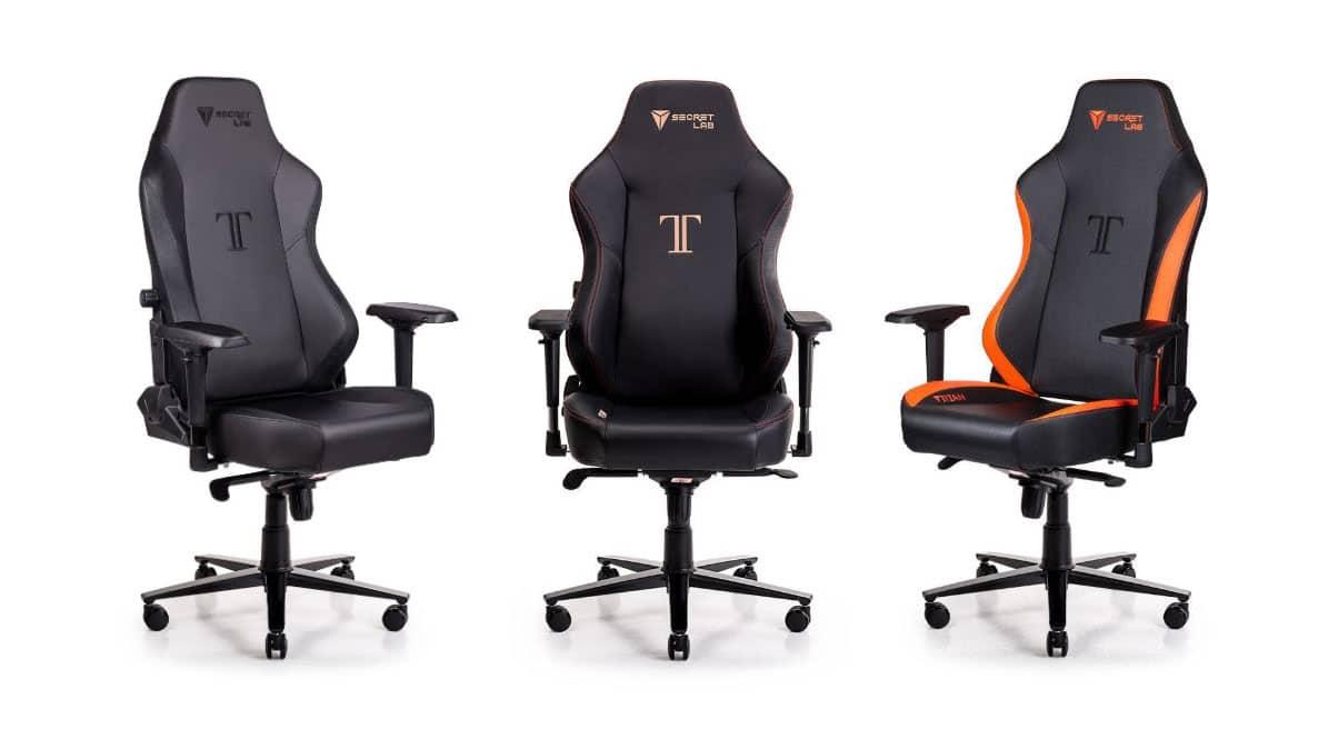 Three versions of Secretlab Titan gaming chairs