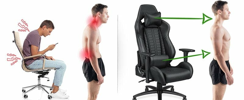 Gaming chair benefits compared to office chairs