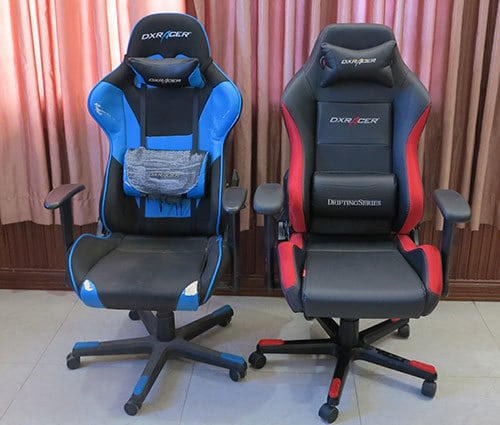 Gaming chairs used by the ChairsFX founder