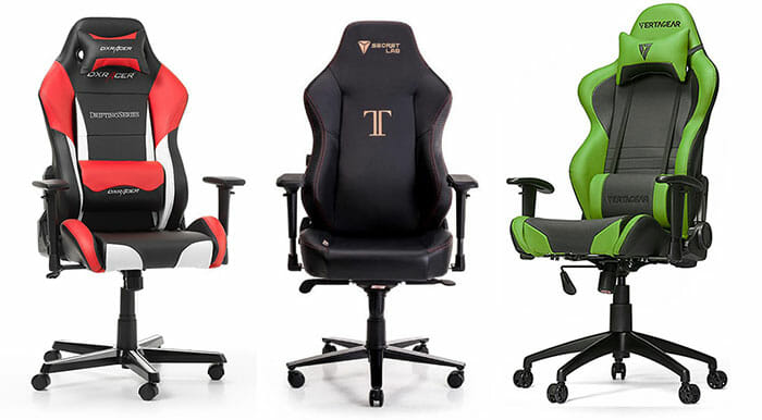 Colorful gaming chairs