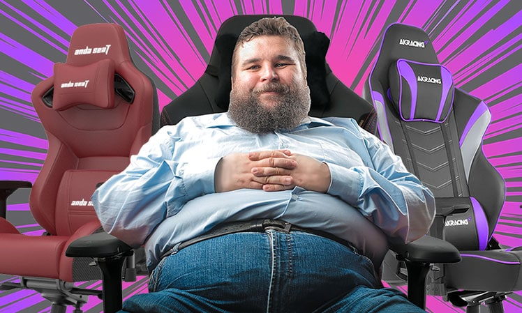 Extra-wide big & tall 400 pound gaming chairs