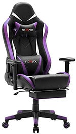 Ficmax Massage Gaming Chair Ergonomic Gamer Chair with Footrest