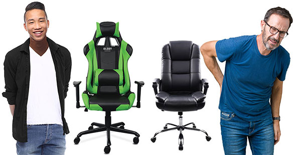 Gaming chairs support good posture for long sitting hours