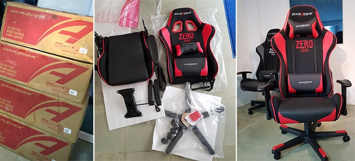 Gaming chair delivery and assembly