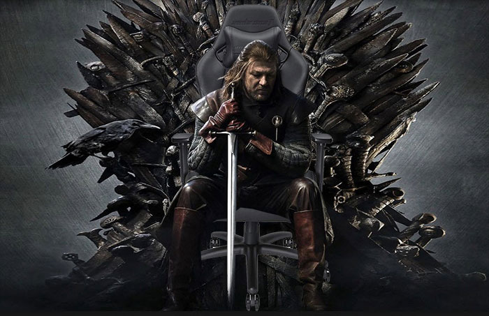 Iron throne as gaming chair