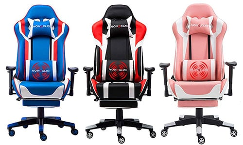 Nokaxus Gaming Chair Large Size High-Back Ergonomic Racing Chairs