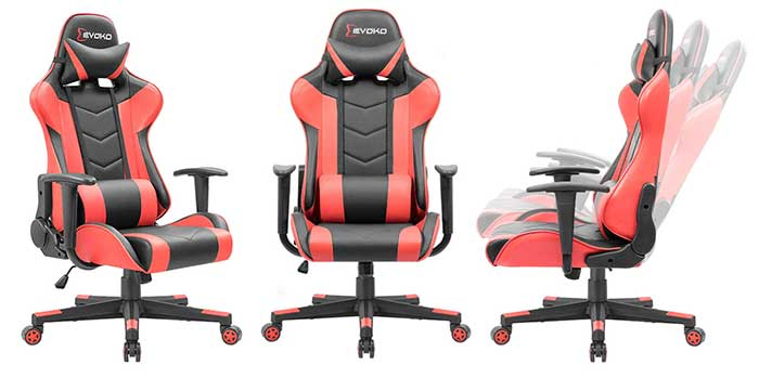 Devoko budget gaming chair black and red