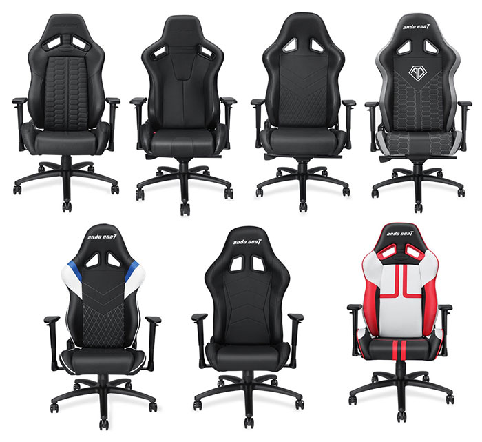The seven best gaming chairs in the Anda seat product line