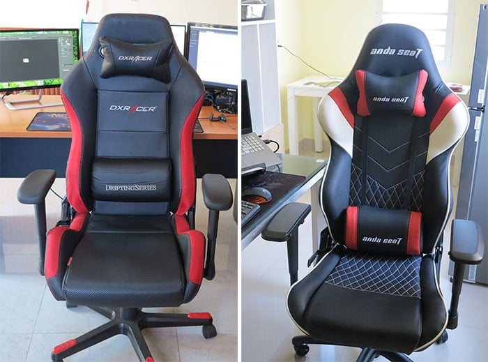 Luxuruy gaming chair compared to budget gaming chair