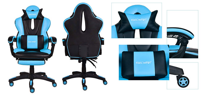 Elecwish modern design gaming chair