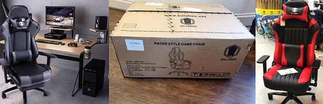 Killabee gaming chair delivery