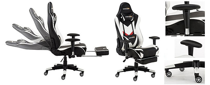 Remarkable Best Gaming Chairs With Footrest Reviews Chairsfx Evergreenethics Interior Chair Design Evergreenethicsorg