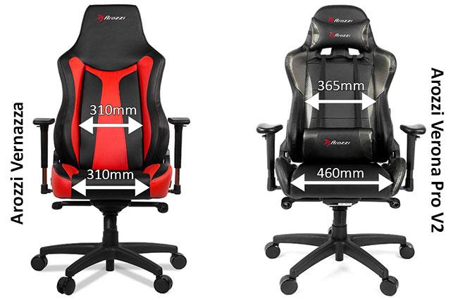 Arozzi premium gaming chair dimensions