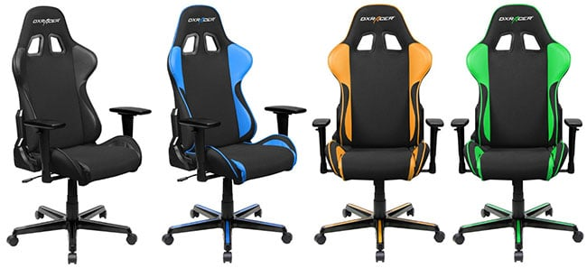 DXRacer Formula Series gaming chairs with mesh leather