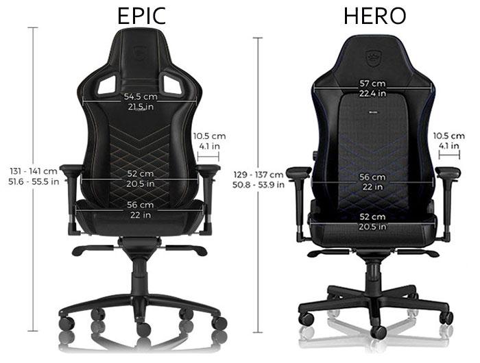 Noblechairs Epic vs HERO