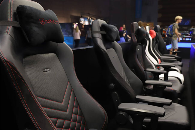 Noblechairs lineup of chairs