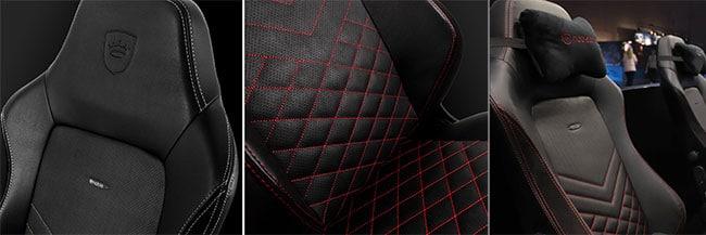 Noblechairs HERO upholstery closeup