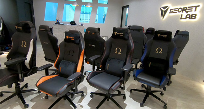 Secretlab Omega gaming chairs