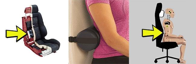 Internal lumbar support