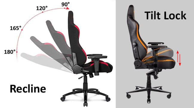 Expensive Gaming chair recline and tilt lock
