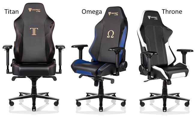Secretlab gaming chairs: various models
