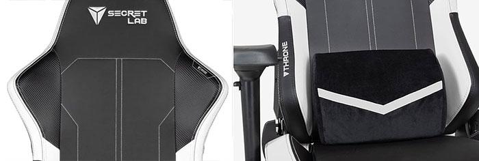 Closeup of gaming chair parts