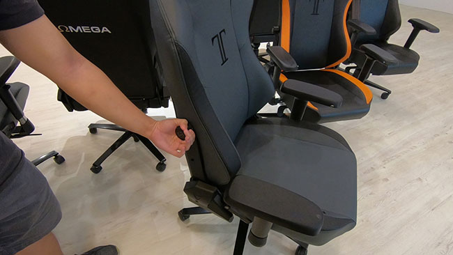 Secretlab Titan lumbar adjustment