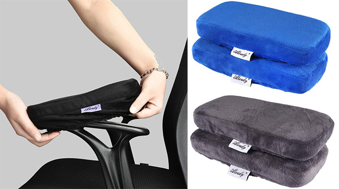 Aloudy Ergonomic Memory Foam Office Chair Armrest Pads