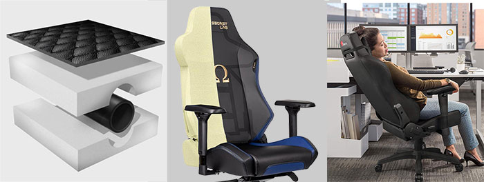 Gaming chair padding and comfort