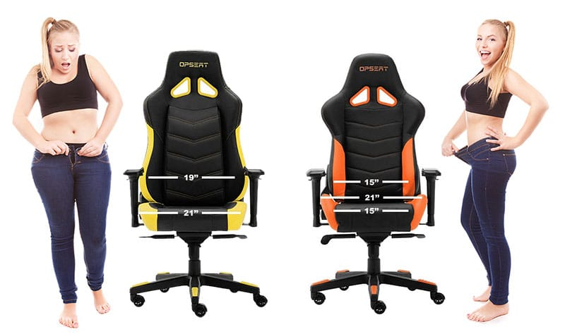 OPSEAT chairs width