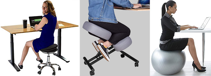 Alternative ergonomic office chairs