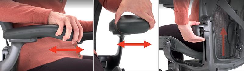 Herman Miller Aeron adjustable armrests