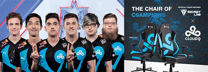 Cloud9 Secretlab partnership