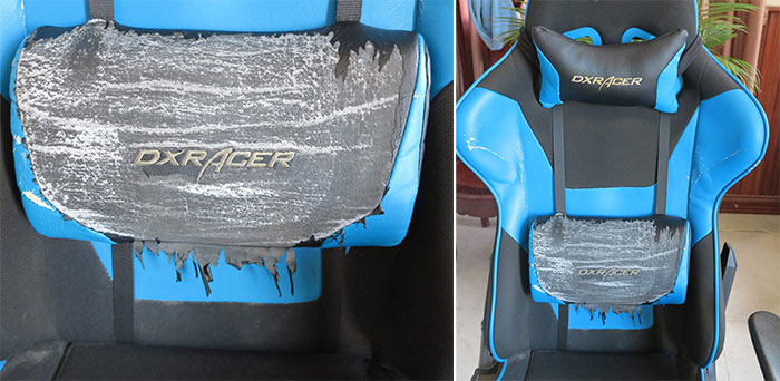 Degraded gaming chair PU leather