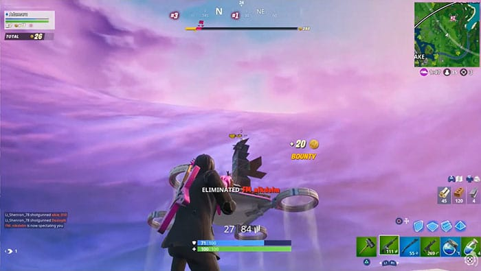 Fortnite game play