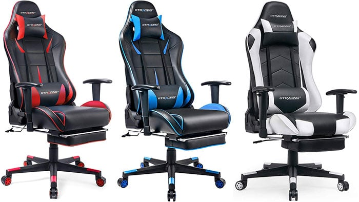 GT909 footrest gaming chairs
