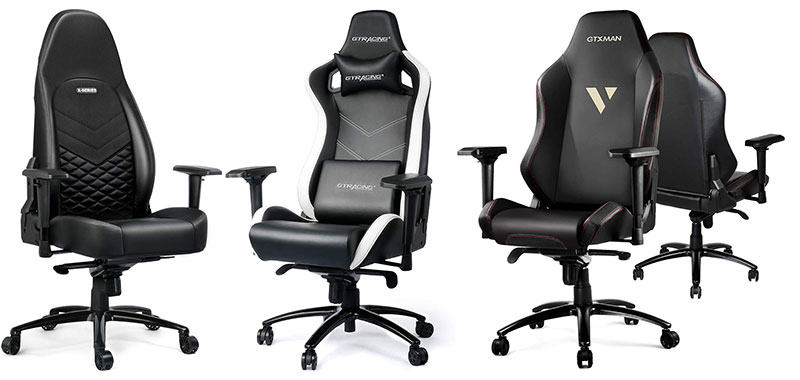 GTRacing Luxury Series gaming chairs