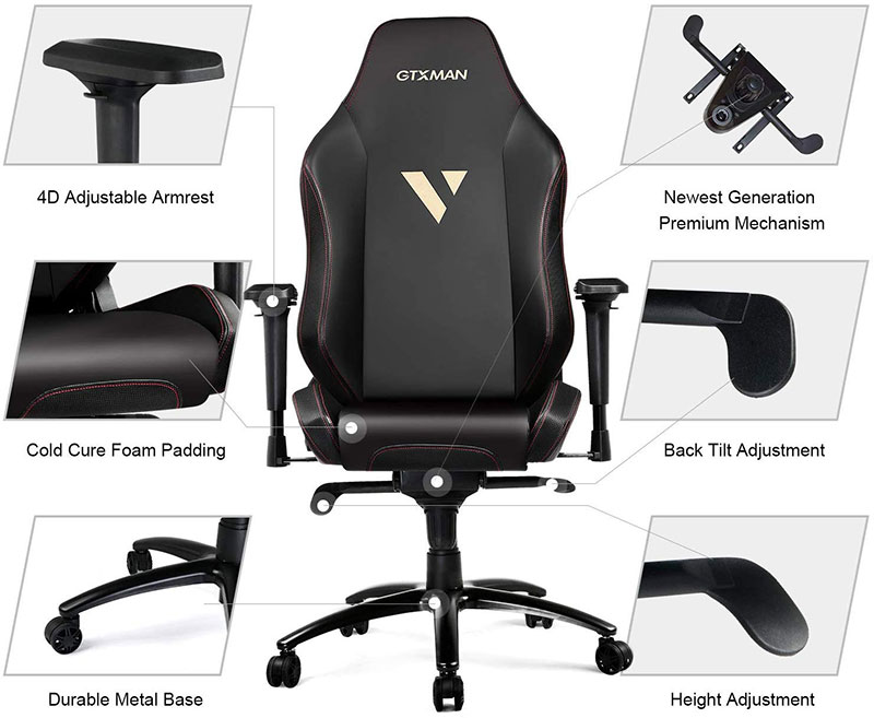 GTRacing GTXMAN GTX010 gaming chair features