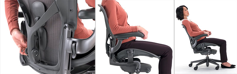Herman Miller Aeron back support