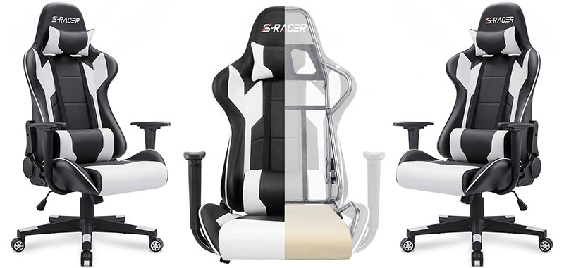 Homall Classic white gaming chair