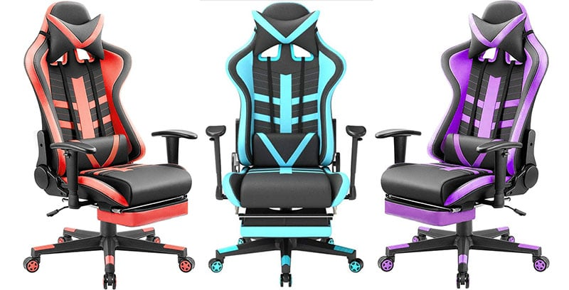 Homall gaming chairs with footrests
