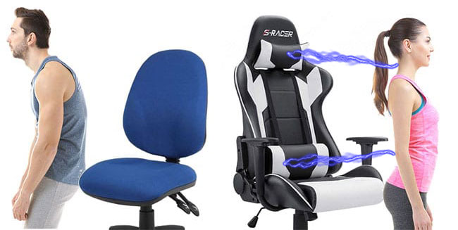 Homall gaming chair support