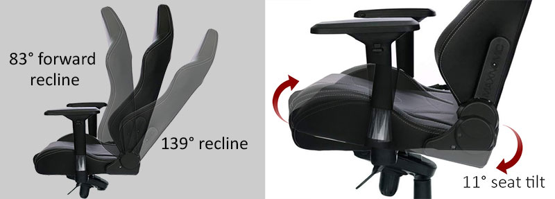Maxnomic Pro recline and tilt lock