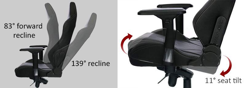 Maxnomic Pro recline and tilt lock