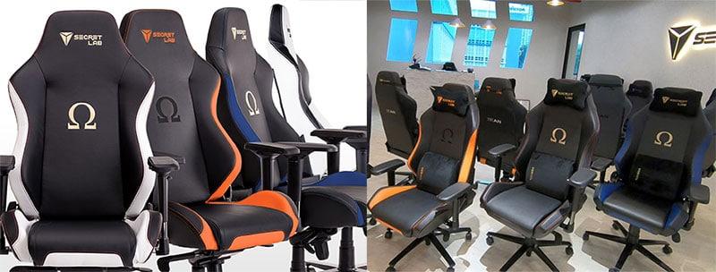 Secretlab Omega gaming chairs