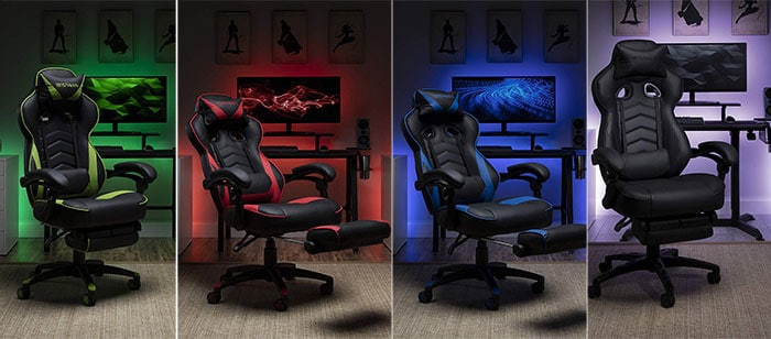 Respawn 110 gaming chairs with footrests